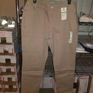Womens  Tan Casual Pants